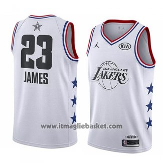 Maglia All Star 2019 Los Angeles Lakers Lebron James No 23 Bianco