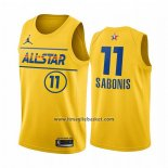 Maglia All Star 2021 Indiana Pacers Domantas Sabonis No 11 Or