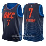 Maglia Bambino Oklahoma City Thunder Carmelo Anthony No 7 Statement 2017-18 Blu