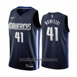 Maglia Dallas Mavericks Dirk Nowitzki No 41 Statement 2019-20 Blu