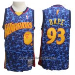 Maglia Golden State Warriors Bape No 93 Hardwood Classics Blu