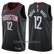Maglia Houston Rockets Luc Mbah a Moute No 12 Statement 2017-18 Nero