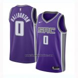 Maglia Sacramento Kings Tyrese Haliburton No 0 Icon 2020-21 Nero