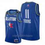Maglia All Star 2020 Atlanta Hawks Trae Young No 11 Blu