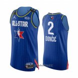 Maglia All Star 2020 Dallas Mavericks Luka Doncic No 2 Autentico Blu