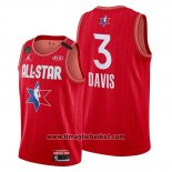 Maglia All Star 2020 Los Angeles Lakers Anthony Davis No 3 Rosso