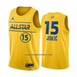 Maglia All Star 2021 Denver Nuggets Nikola Jokic No 15 Or