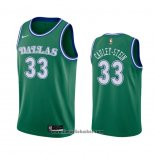 Maglia Dallas Mavericks Willie Cauley-Stein No 33 Hardwood Classics 2020-21 Verde