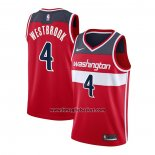 Maglia Washington Wizards Russell Westbrook No 4 Icon 2020-21 Rosso