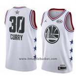Maglia All Star 2019 Golden State Warriors Stephen Curry No 30 Bianco