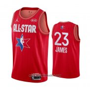 Maglia All Star 2020 Los Angeles Lakers Lebron James No 23 Rosso