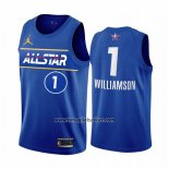 Maglia All Star 2021 Orleans Pelicans Zion Williamson No 1 Blu