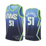 Maglia Dallas Mavericks Boban Marjanovic No 51 Citta Edition Blu