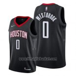 Maglia Houston Rockets Russell Westbrook No 0 Statement 2019 Nero