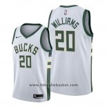 Maglia Milwaukee Bucks Marvin Williams No 20 Association 2019-20 Bianco