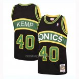 Maglia Seattle Supersonics Shawn Kemp No 40 Mitchell & Ness 1994-95 Nero