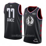 Maglia All Star 2019 Dallas Mavericks Luka Doncic No 77 Nero
