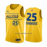 Maglia All Star 2021 Philadelphia 76ers Ben Simmons No 25 Or