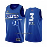 Maglia All Star 2021 Washington Wizards Bradley Beal No 3 Blu