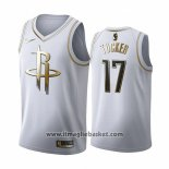 Maglia Golden Edition Houston Rockets P.j. Tucker No 17 2019-20 Bianco