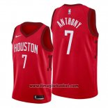 Maglia Houston Rockets Carmelo Anthony No 7 Earned Edition Rosso
