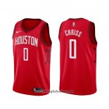 Maglia Houston Rockets Marquese Chriss NO 0 Earned Rosso