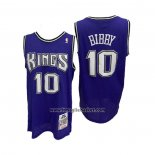 Maglia Sacramento Kings Mike Bibby No 10 Mitchell & Ness 2001-02 Viola