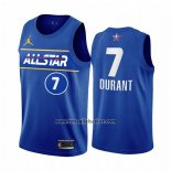 Maglia All Star 2021 Brooklyn Nets Kevin Durant No 7 Blu