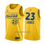 Maglia All Star 2021 Los Angeles Lakers Lebron James No 23 Or
