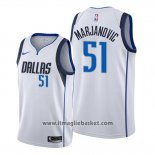 Maglia Dallas Mavericks Boban Marjanovic No 51 Association Bianco