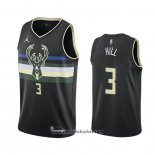 Maglia Milwaukee Bucks George Hill No 3 Statement 2020-21 Nero