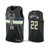 Maglia Milwaukee Bucks Khris Middleton No 22 Statement 2020-21 Nero