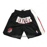 Pantaloncini Portland Trail Blazers Just Don Nero