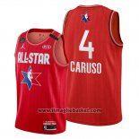 Maglia All Star 2020 Los Angeles Lakers Alex Caruso No 4 Rosso