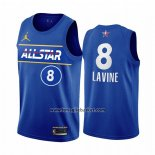Maglia All Star 2021 Chicago Bulls Zach Lavine No 8 Blu