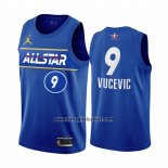 Maglia All Star 2021 Orlando Magic Nikola Vucevic No 9 Blu