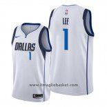 Maglia Dallas Mavericks Courtney Lee No 1 Association Bianco