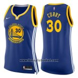 Maglia Donna Golden State Warriors Stephen Curry No 30 Icon 2017-18 Blu