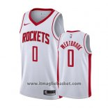 Maglia Houston Rockets Russell Westbrook No 0 Association 2019-20 Bianco