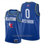 Maglia All Star 2020 Houston Rockets Russell Westbrook No 0 Blu