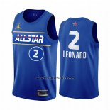 Maglia All Star 2021 Los Angeles Clippers Kawhi Leonard No 2 Blu