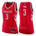 Maglia Donna Houston Rockets Chris Paul No 3 Icon 2017-18 Rosso