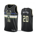 Maglia Milwaukee Bucks Marvin Williams No 20 Statement 2020-21 Nero