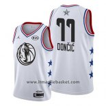 Maglia All Star 2019 Dallas Mavericks Luka Doncic No 77 Bianco