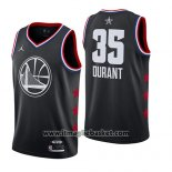 Maglia All Star 2019 Golden State Warriors Kevin Durant No 35 Nero