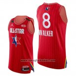 Maglia All Star 2020 Eastern Conference Kemba Walker No 8 Rosso