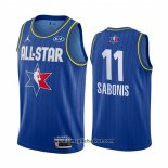 Maglia All Star 2020 Indiana Pacers Domantas Sabonis No 11 Blu