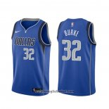 Maglia Dallas Mavericks Trey Burke NO 32 Icon Blu 2020