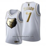 Maglia Golden Edition Memphis Grizzlies Justise Winslow No 7 2019-20 Bianco