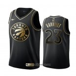 Maglia Golden Edition Tornto Raptors Fred Vanvleet No 23 Nero
